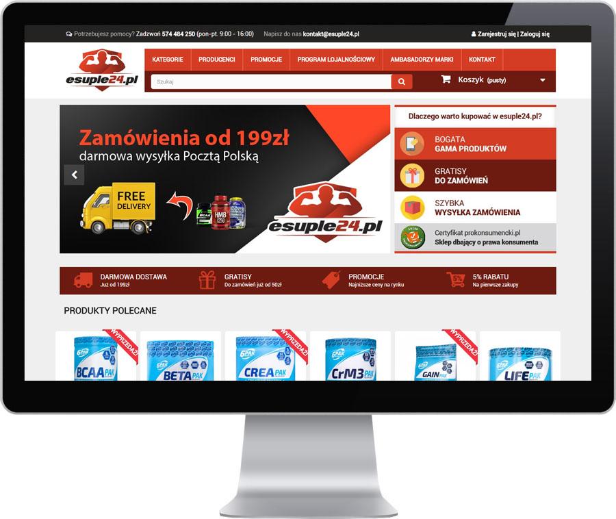 4519462760f7 esuple24.pl to sklep internetowy z odżywkami i suplementami diety dla osób  aktywnych. Współpracę rozpoczęliśmy od wykonania logo i elementów  identyfikacji ...